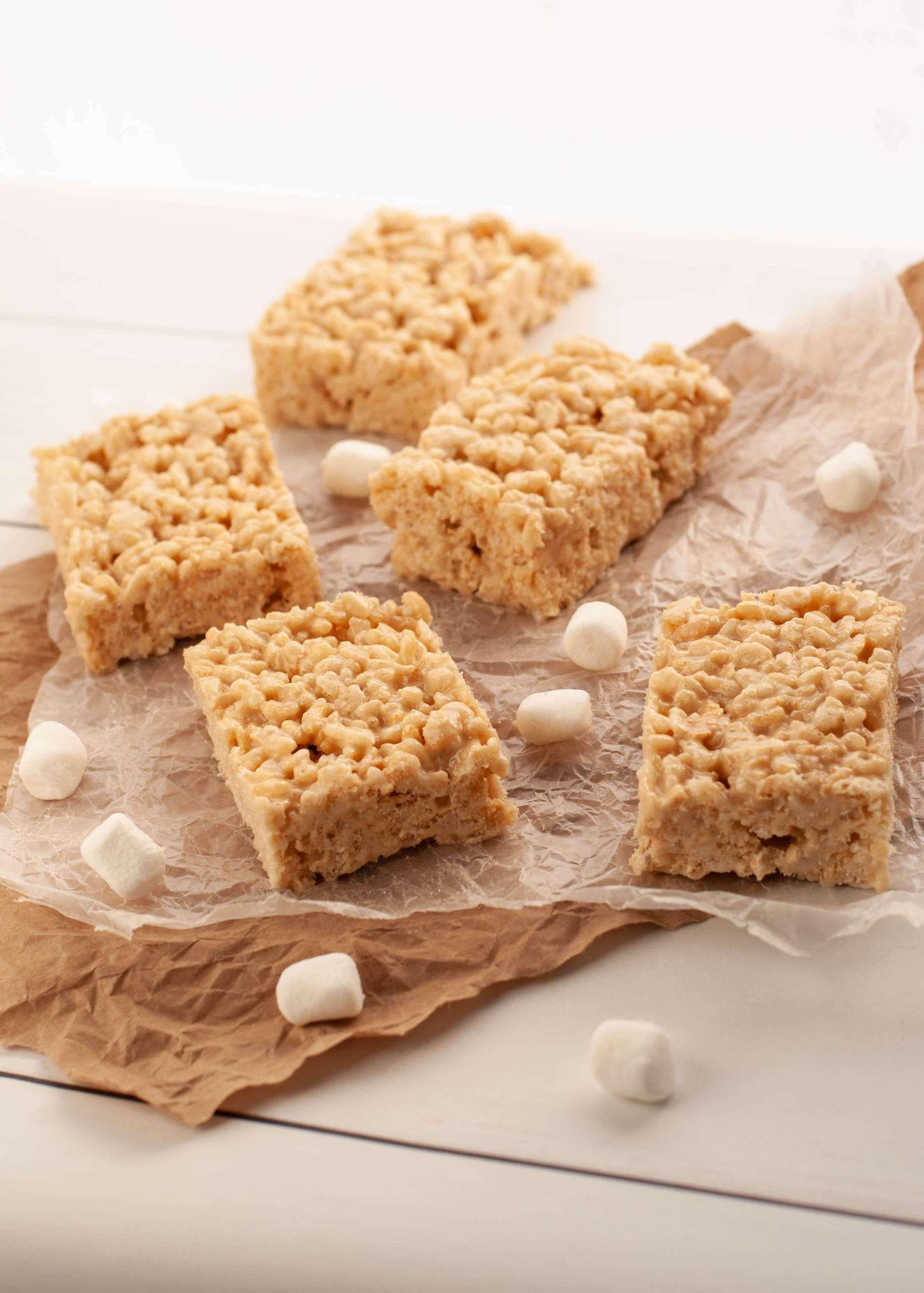 Dairy & Glutenfree Salted Caramel Rice Krispies (Top 8