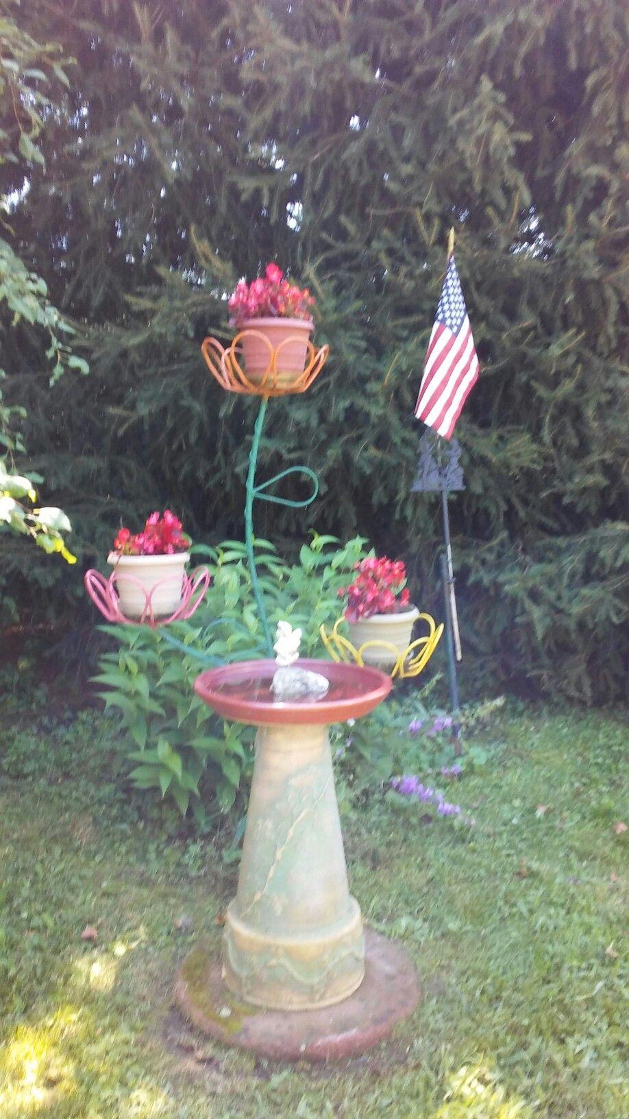 Back Yard Bird Bath Backyard Outdoor Decor