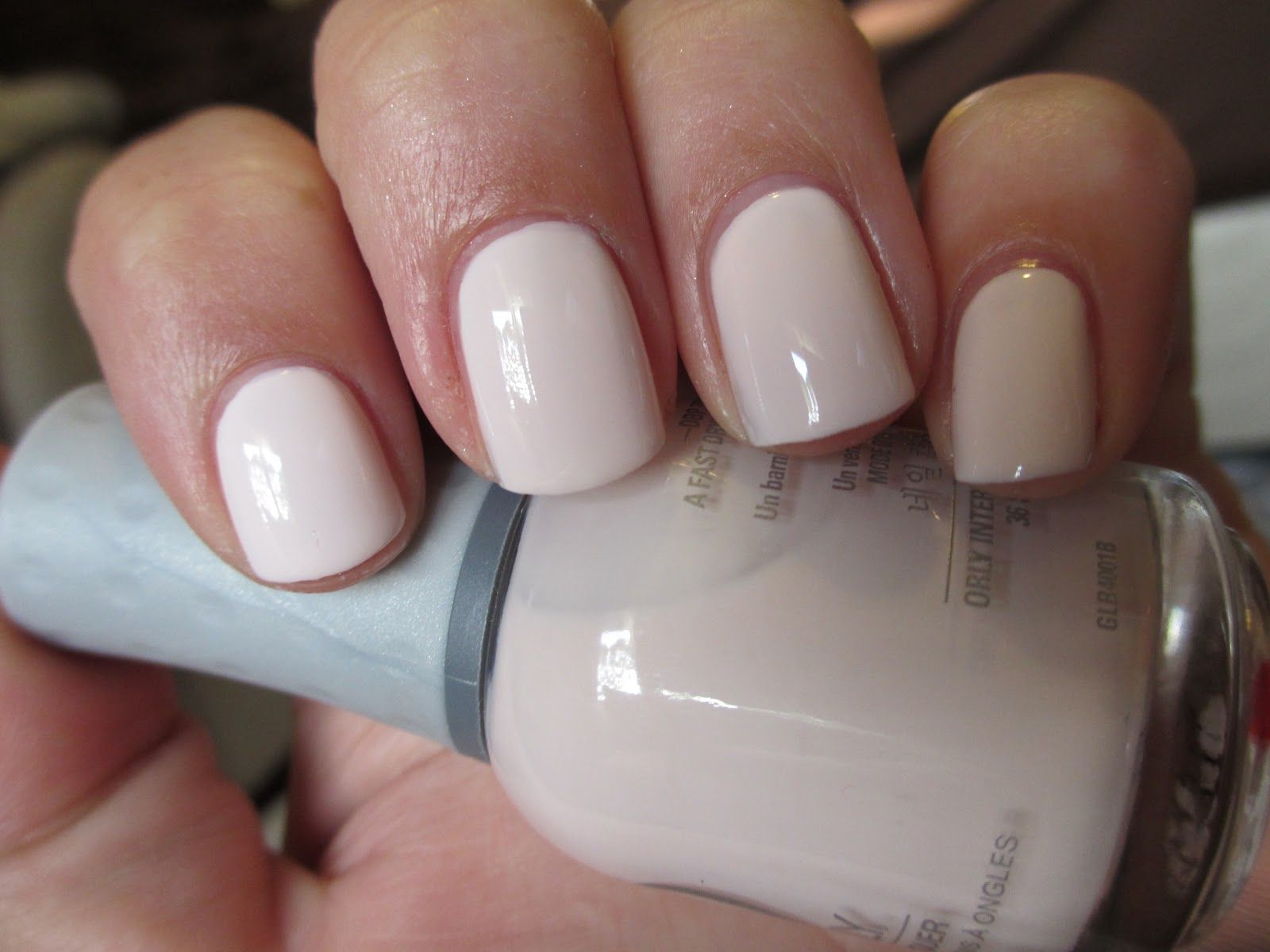 This is Orly - Kiss the Bride, a super light, almost-white, pink ...