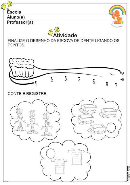 Atividade Higiene Liga Pontos | Ideia Criativa - Gi Barbosa Educação Infantil