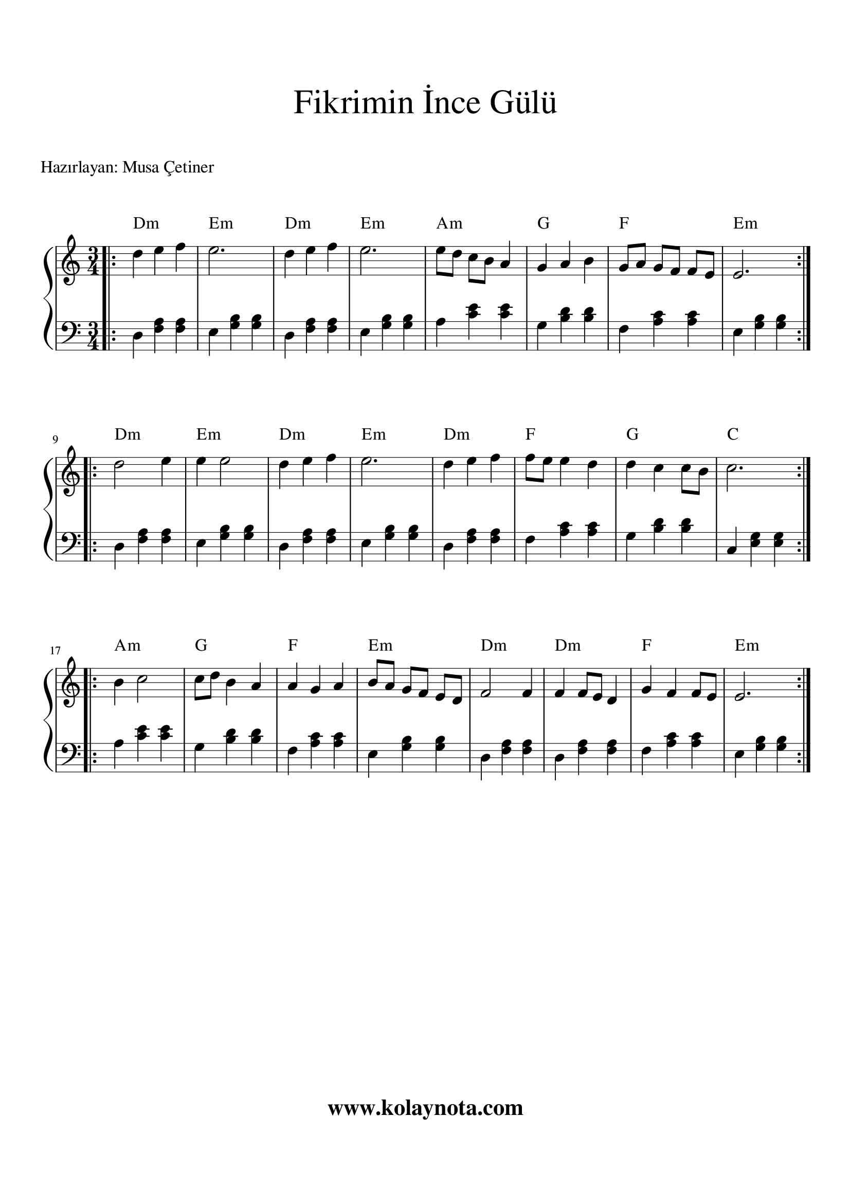 Fikrimin Ince Gulu Piyano Notasi Piyano Notalara Dokulmus Muzik Muzik Notalari