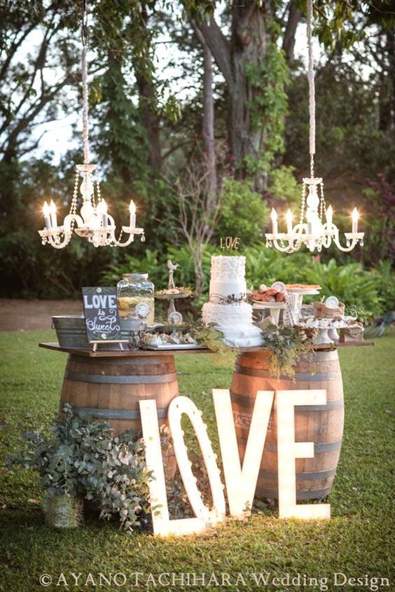 10 Of The Best Outdoor Wedding Ideas From Pinterest Decorations Rustic Cakes And Cake