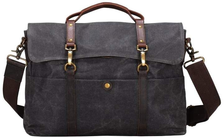 dd91331b15 Classic Waxed Canvas Laptop Messenger Bag in Grey in 2018