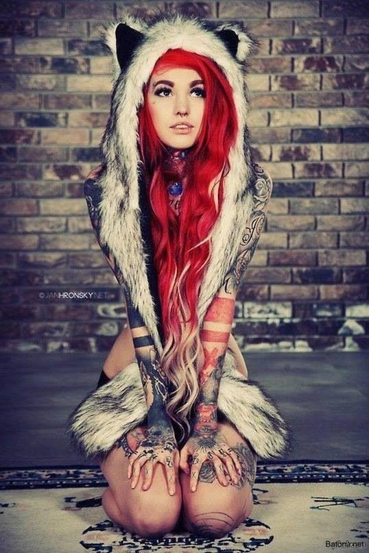 Sexy Ginger Bodyart Tattoo Art Fun