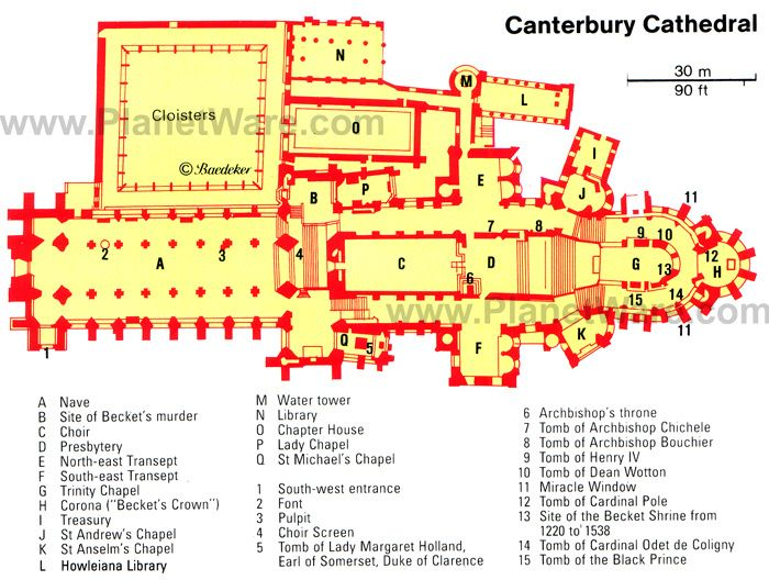 Canterbury Cathedral Floor Plan Canterbury Cathedral Map