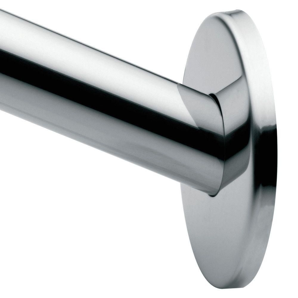 Moen 58 4 In Curved Shower Rod Bar In Polished Stainless Steel
