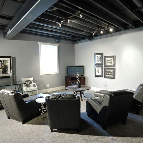 Unfinished Basements Design Ideas Pictures Remodel And Decor