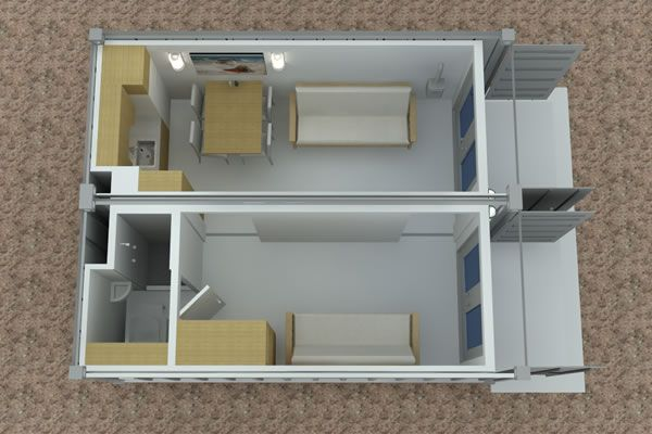 Shipping Container Cabin Plans shipping container cabin concept – part 2 2x20-foot-container