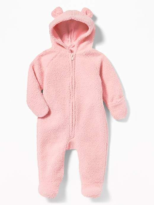 44e9c334aa0f Hooded Sherpa One-Piece for Baby in 2019 | Mj home | Girl outfits ...