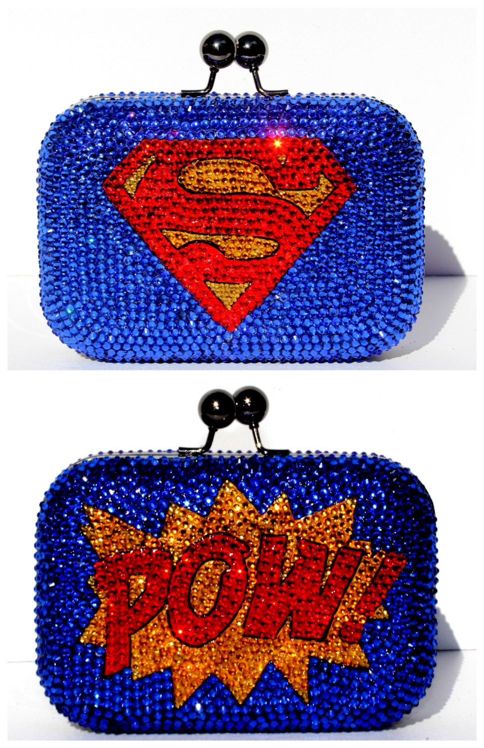 Superman Clutch Covered With Swarovski Crystals In 2020