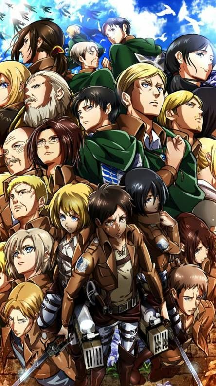 The tv adaptation of hajime isayama's critically acclaimed manga series attack on titan is one of the most popular shows among anime fans. Cool backgrounds   Artis bertato, Animasi, Wallpaper anime