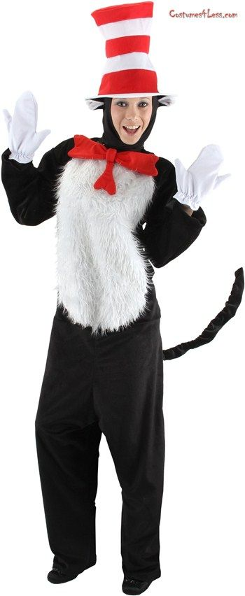Dr. Seuss The Cat in the Hat - The Cat in the Hat Deluxe Adult Costume 23468606451