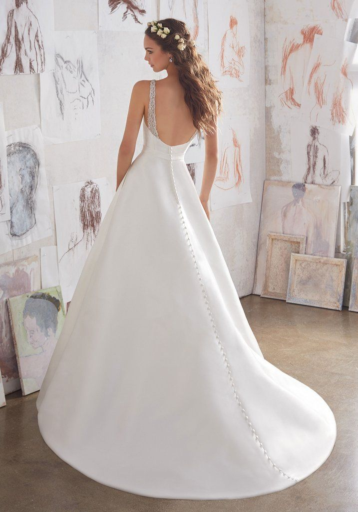 Blu by Mori Lee Maxine 5516 Satin A-Line Wedding Dress
