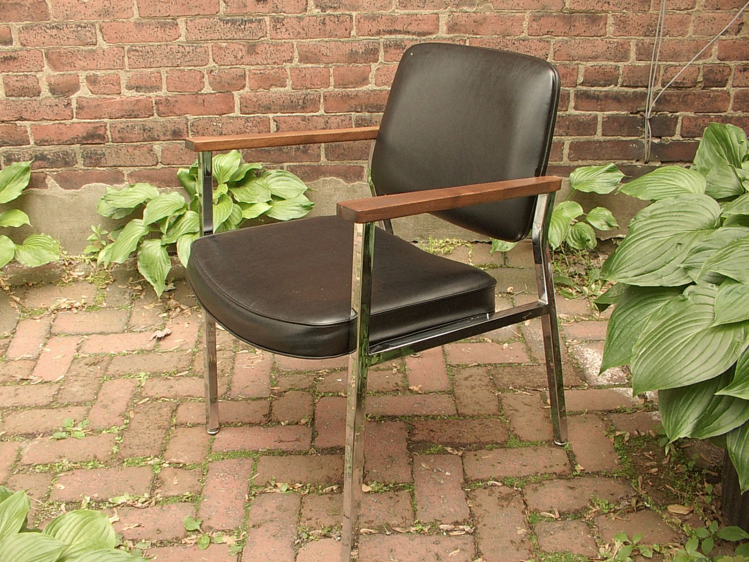 Discover Ideas About Black Leather Chair. Vintage Union Chrome Office Chair,  Mid Century Modern ...