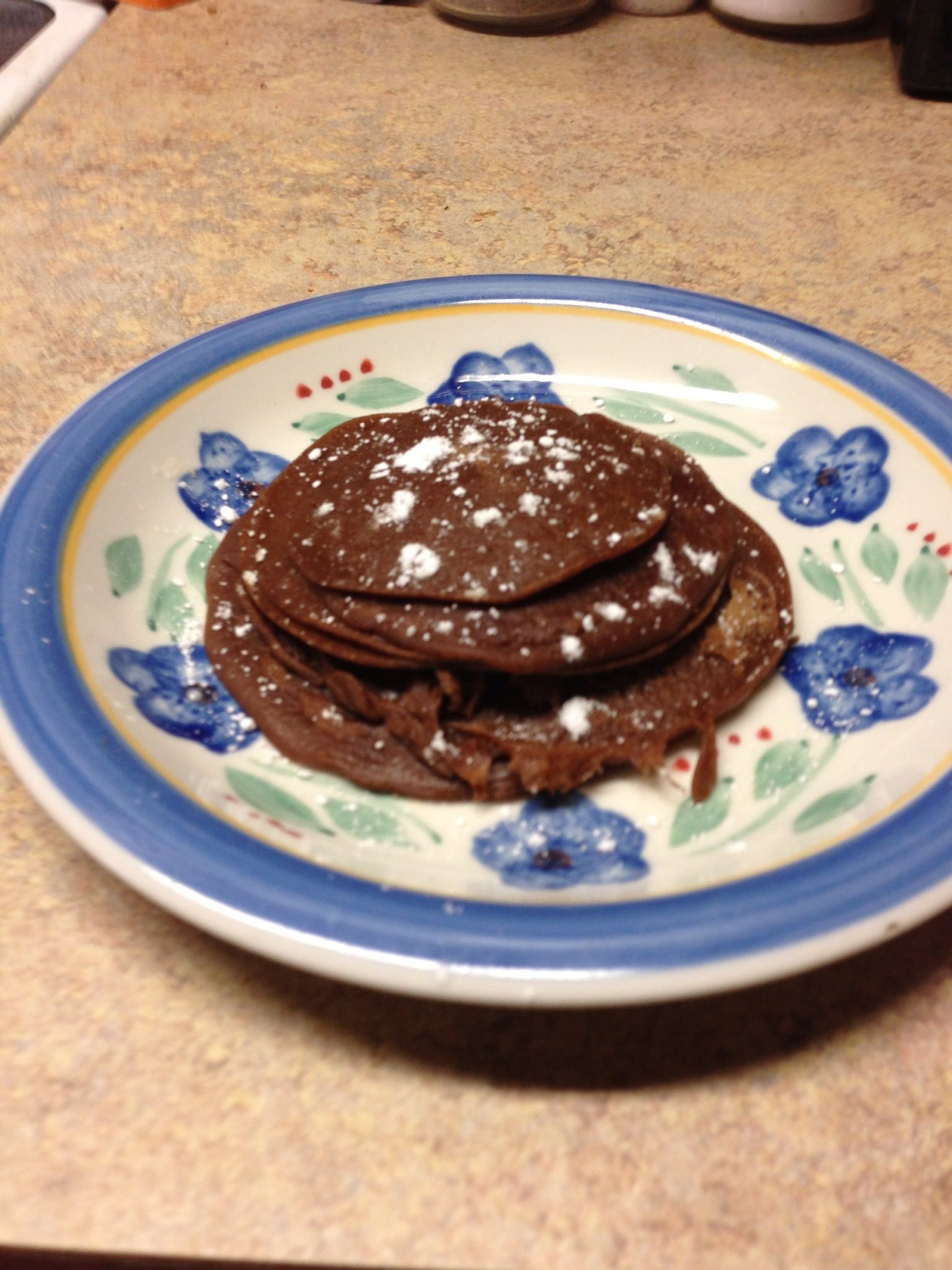 Healthy chocolate lovers pancakes!