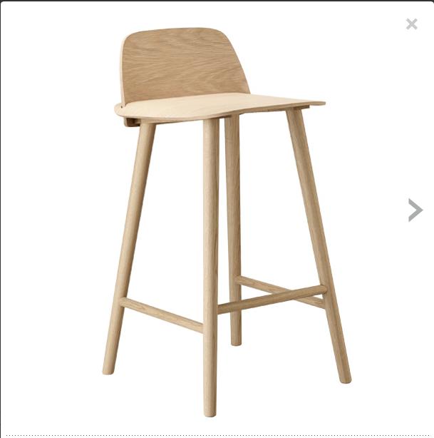Muuto Nerd Bar Stool Natural Oak Low Seat Height 65cm, 399 Euros High Seat  Height