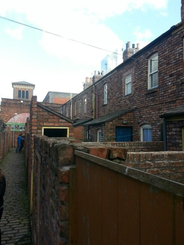 The Rear Of The Houses Every House Has Been Built With Bricks And Mortar But All Empty Shells Coronation Street Tv Set Design Studio Tour