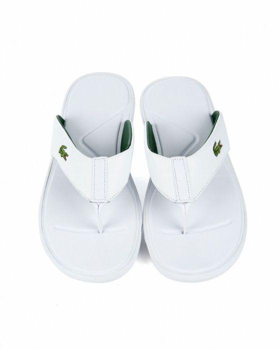 online aquí fábrica auténtica estilo atractivo Chanclas hombre Lacoste de Piel - Blancas | AFRICA ...