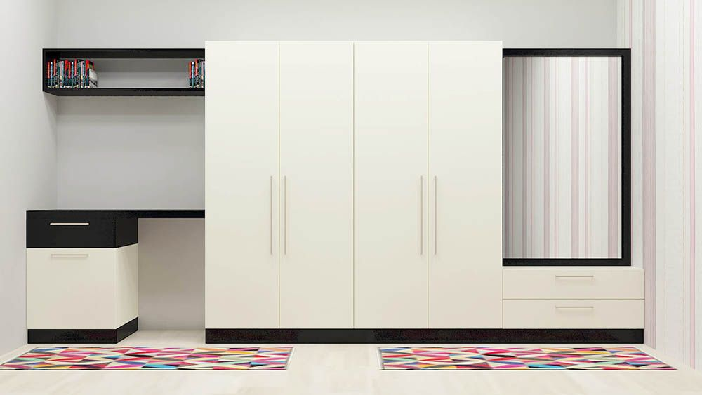 Glory Lilly Wardrobe With Laminate Finish Wardrobe Online India