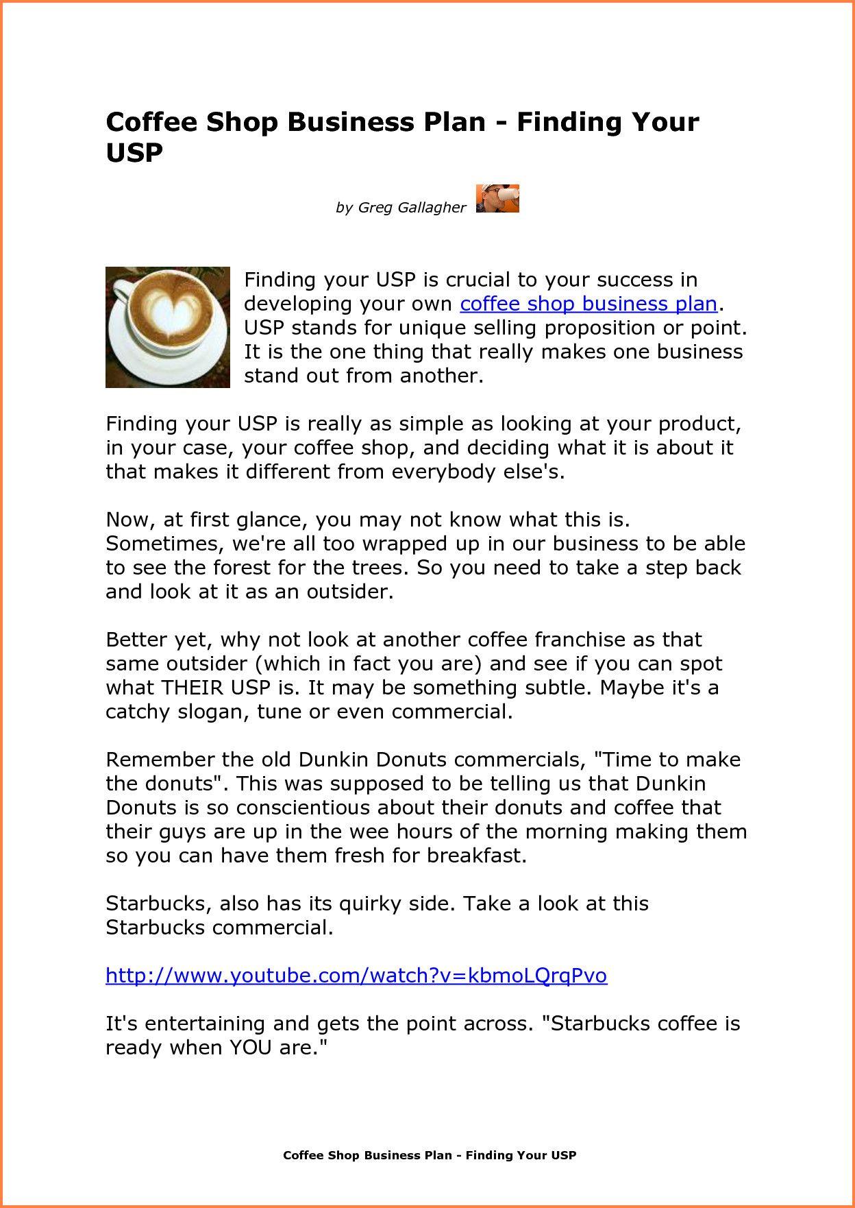Coffee Shop Business Plan Template Fresh 8 Coffee Shop