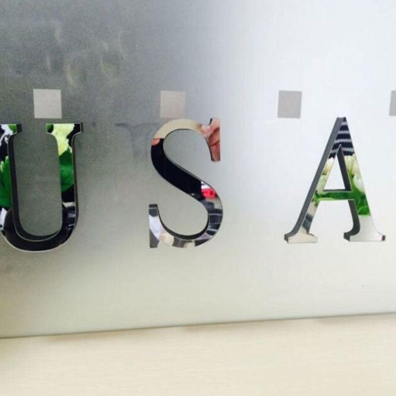 Creative 3d acrylic mirror english alphabet wall stickers
