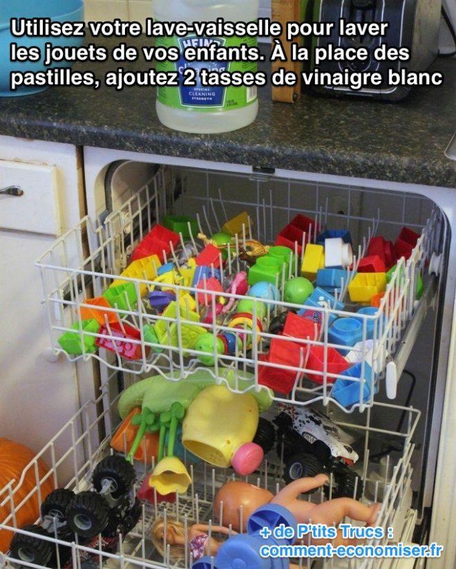 L 39 astuce pour laver et d sinfecter facilement les jouets for Lave vaisselle le plus economique