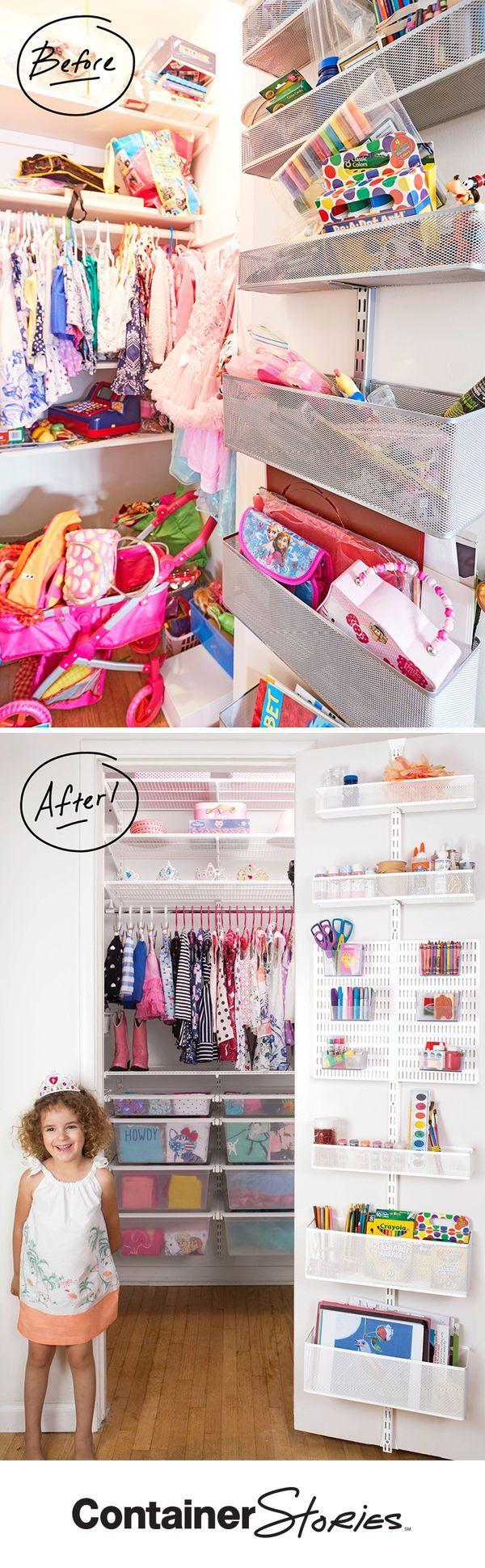 We turned closet chaos into a closet fit for a princess