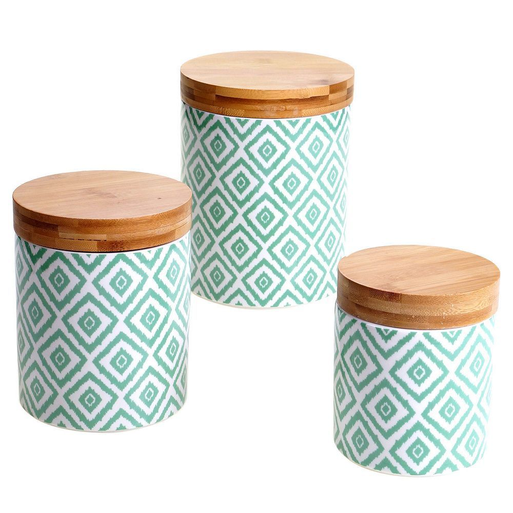 Certified International Ikat & Bamboo 3-pc. Canister Set | Canister ...