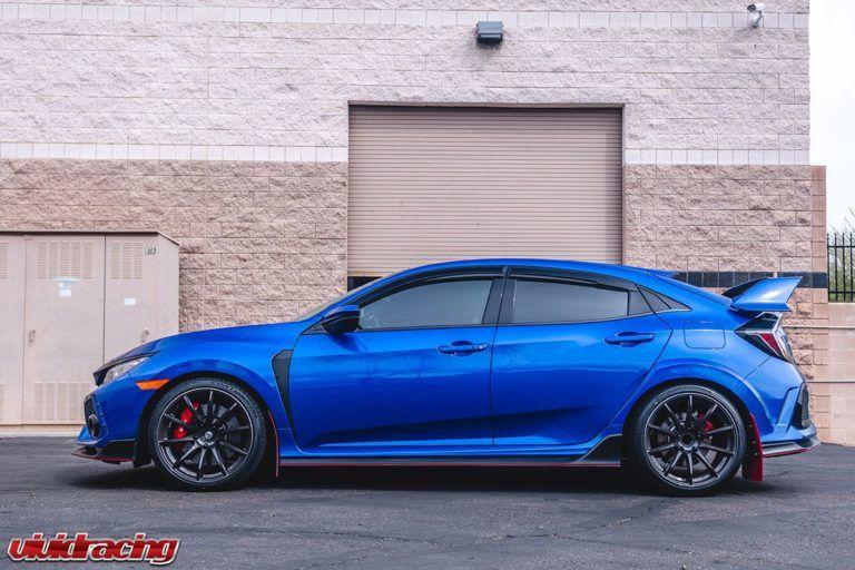 Honda Civic Type R Fk8 Blue Rays Gram Lights 57transcend Wheel Front Honda Civic Type R Honda Civic Honda Civic Sport