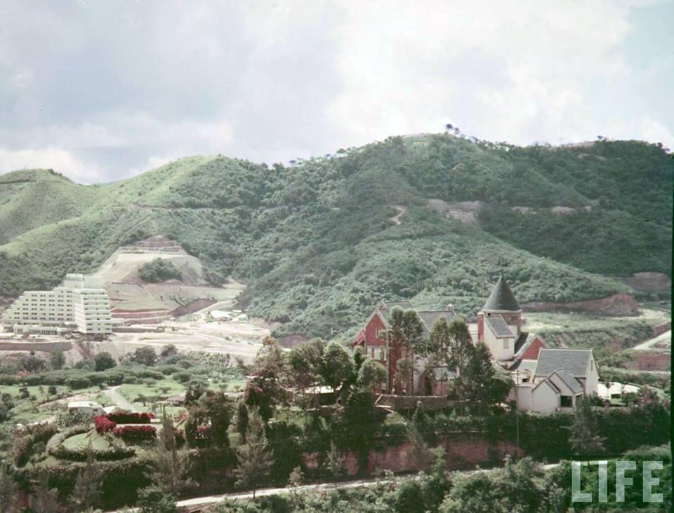 Vista del Hotel Tamanaco desde Valle Arriba 1953
