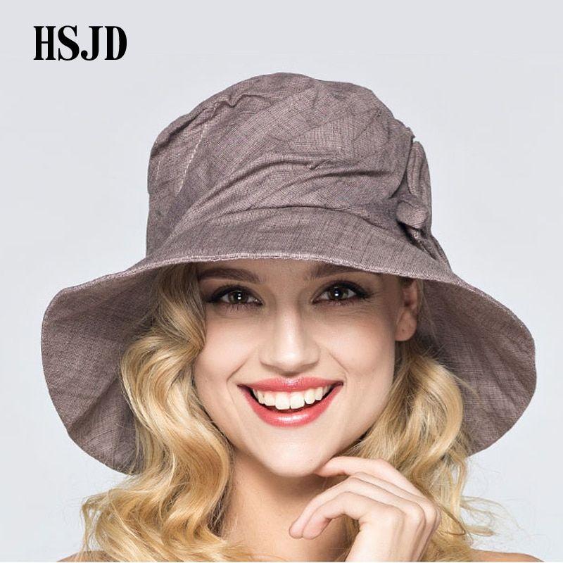 cd143f87323b8 2018 Mulheres Verão Aba Larga Dobrável Chapéu de Sol anti UV Cap Chapéu de  Balde de