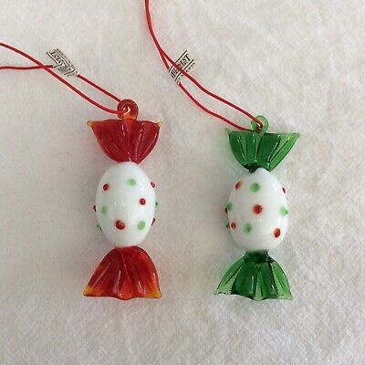 Midwest Importers Glass Candy Christmas Ornament ...