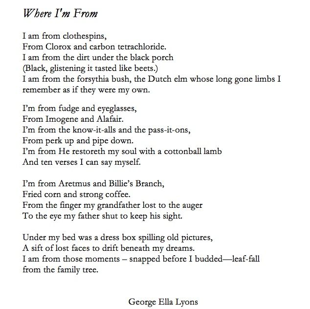 where i am from george ella lyon