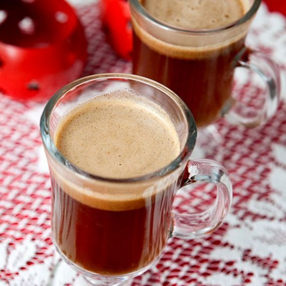 Hot Buttered Rum. A Classic Festive Holiday Drink. Smooth