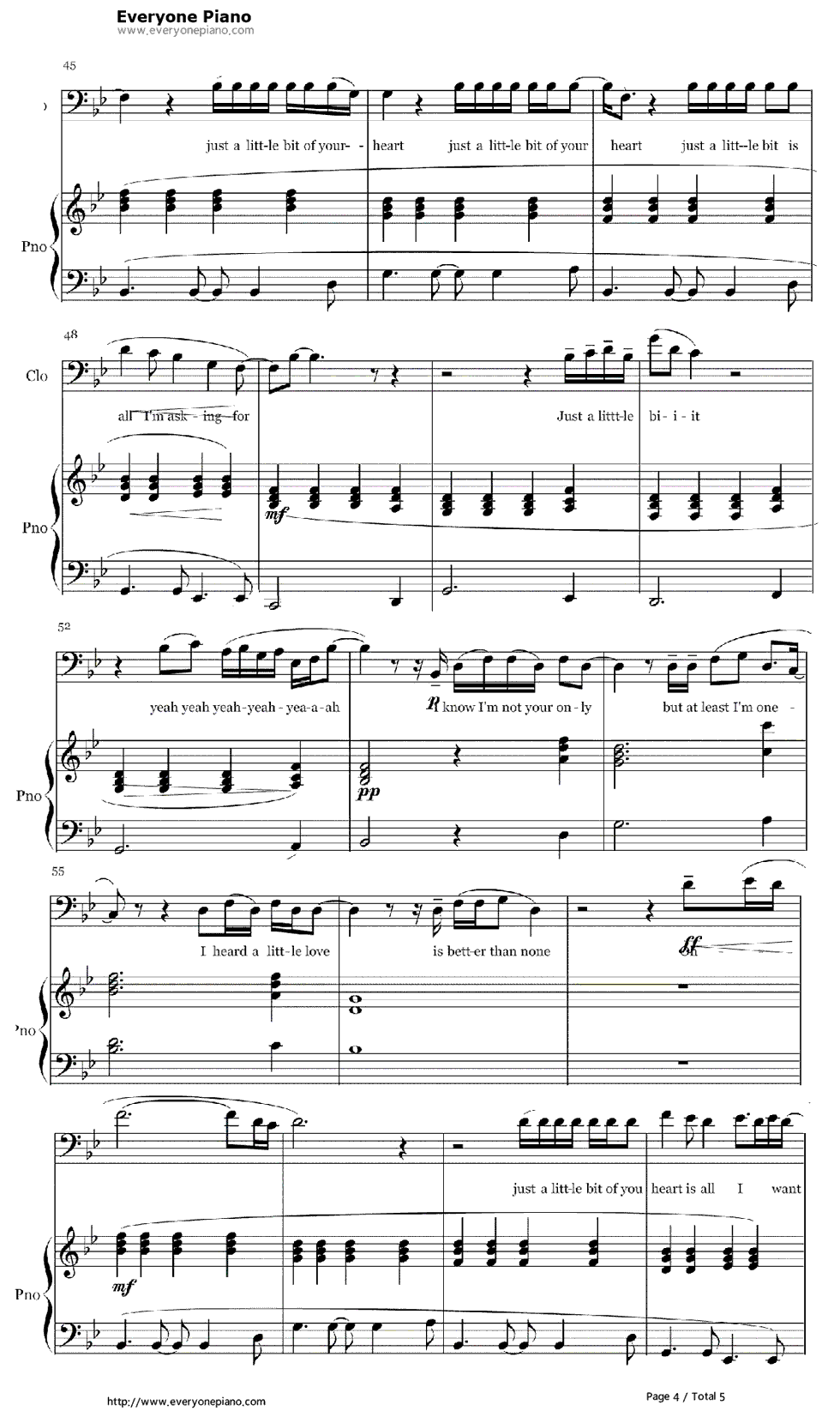 Free just a little bit of your heart ariana grande sheet music free just a little bit of your heart ariana grande sheet music preview 4 hexwebz Choice Image