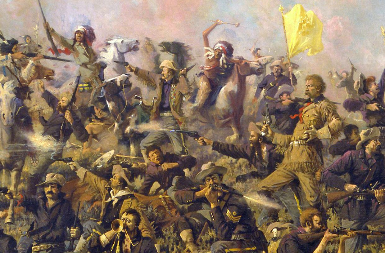 Events about the native american indians in the battle of the little big horn