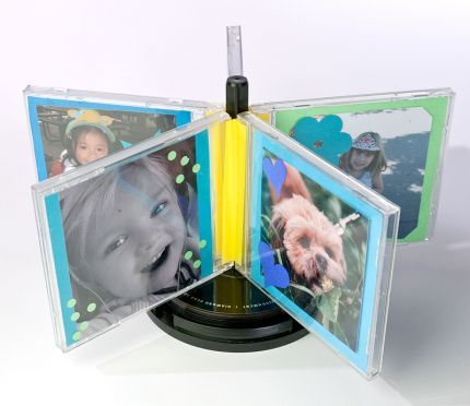 A Whirl Of CD Cases Photo Frames