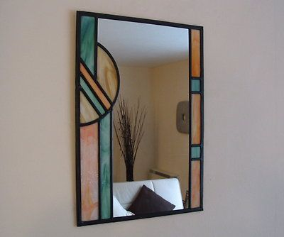 Stained Glass Mirror Art Deco Prism Ebay Stainedglassmirror