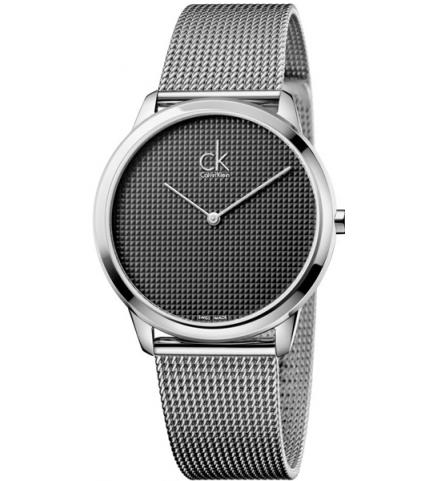 Calvin Klein - MontreHomme - Minimal - K3M2112X - Bracelet acier milanais-  Cadran Gris foncé b9bfe53c78c
