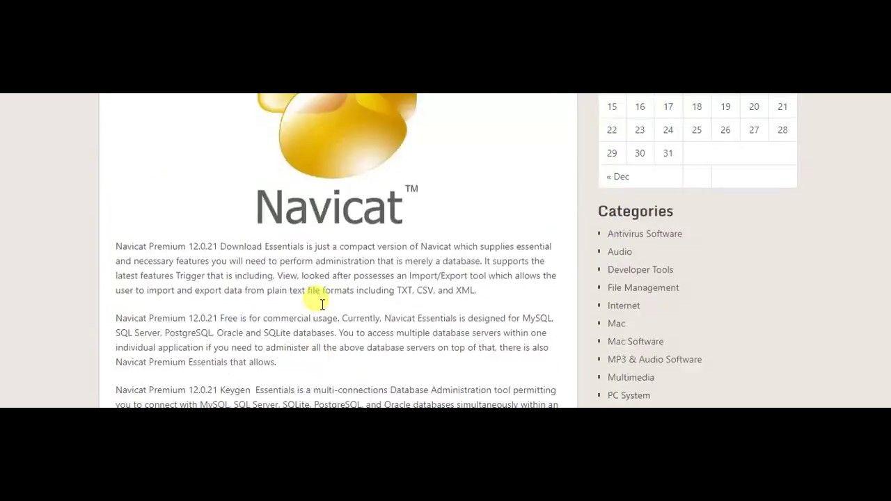 serial key navicat premium 12