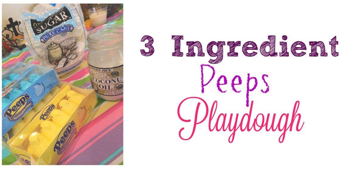 3 Ingredient Peeps Playdough