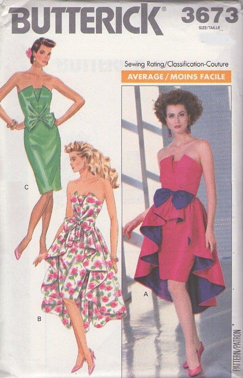 4814f0ae274 Vintage 80s gala party gown sewing pattern.. MOMSPatterns