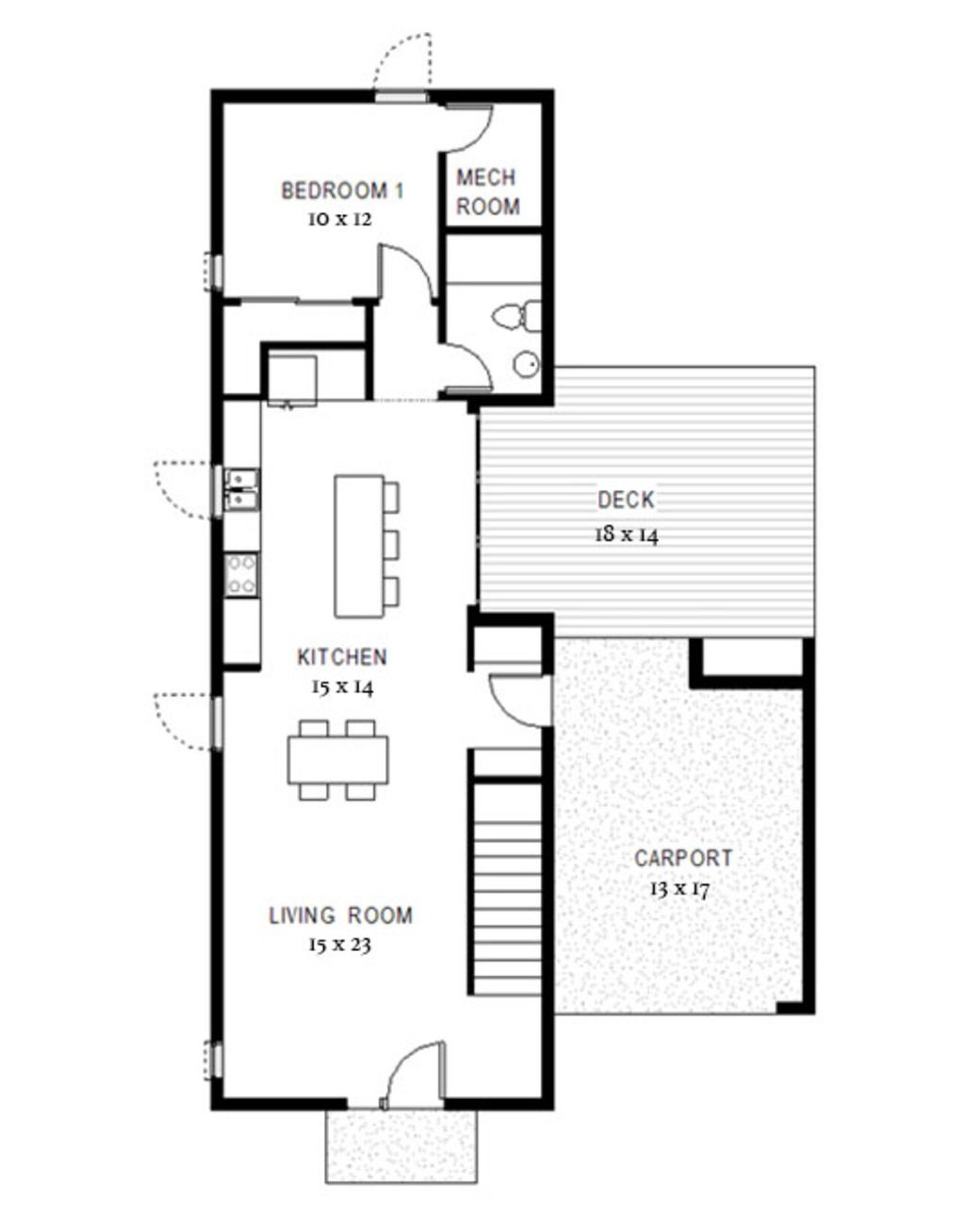 Modern Style House Plan - 3 Beds 3 Baths 1900 Sq/Ft Plan ...