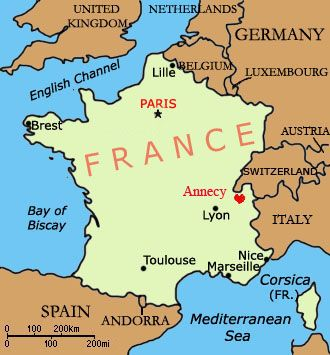 Annecy on the map Maps Pinterest Alps France and Buckets