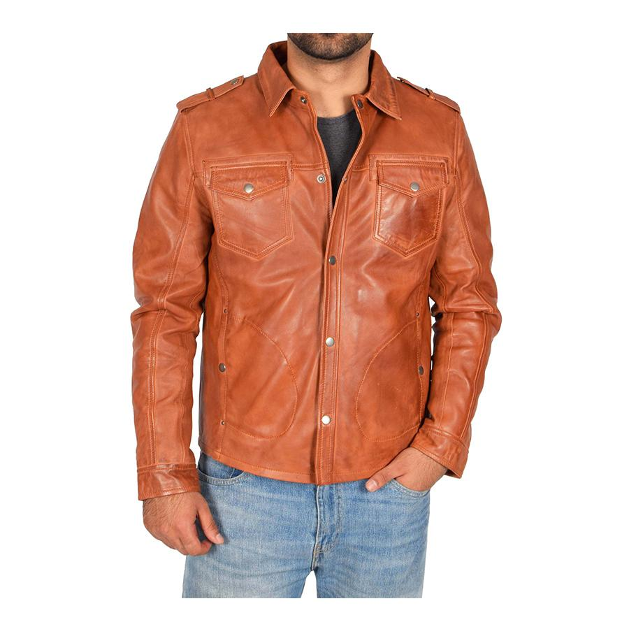 Mens Sheepskin Leather Biker Jacket in 2020 Jackets