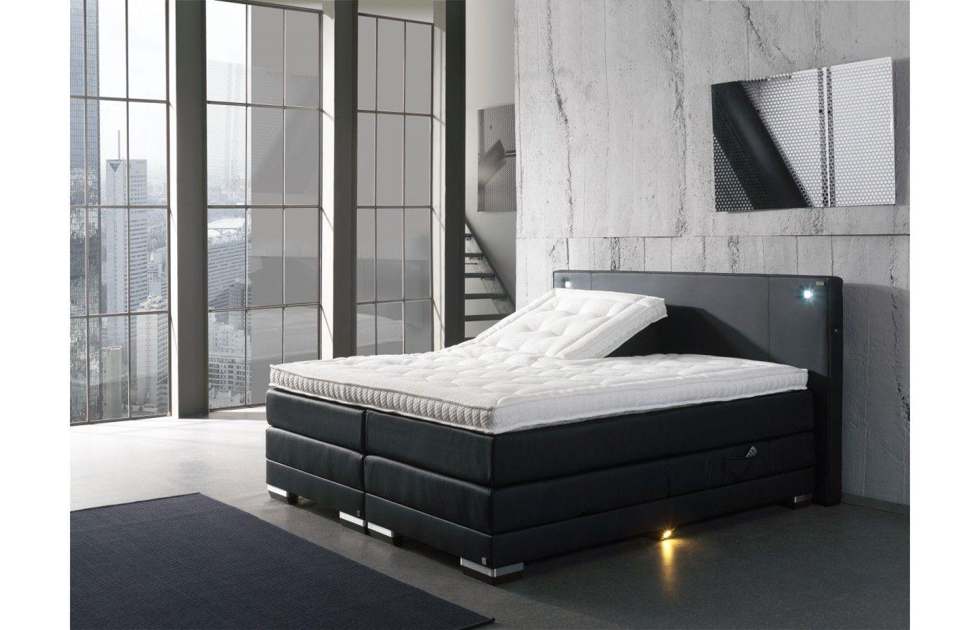 Inspirational  Design Boxspring Bett mit rundum LED Beleuchtung Exklusiv auf Sofas
