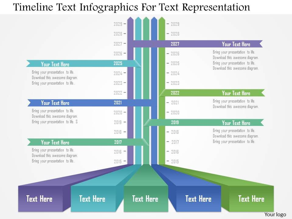 Sample Timeline Template For Kid Ap Timeline Text Infographics For