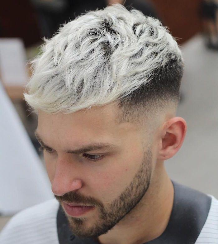 Coupe De Cheveux Court Homme Meche Blonde Coupes De Cheveux