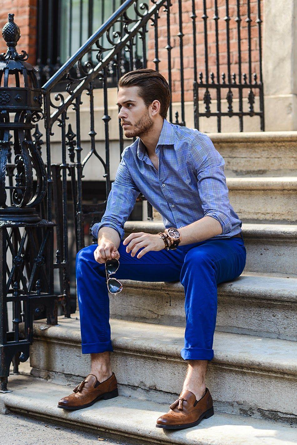 I AM GALLA: Electric | Mens fashion trends, Blue pants men
