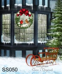 christmas snowy ultralite backdrop